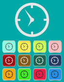 Clock face - Vector icon isolated — Vettoriale Stock