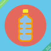 Plastic bottle with drink - vector illustration — Stok Vektör