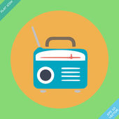 Retro Radio icon - vector illustration — Wektor stockowy