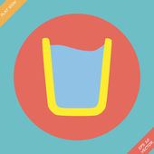 Glass of water icon - vector illustration. Flat — Stok Vektör