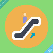 Escalator icon - vector illustration. Flat — Stock Vector