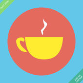Cup mug of hot drink coffee, tea — Stock Vector
