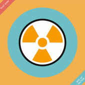 Radiation sign - vector illustration. — Stock Vector