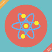 Atomic Symbol Icon - vector illustration. — Stock Vector