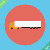Icon trucks with refrigerator - vector — Stock Vector