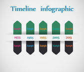 Timeline - different tooltips - vector infographic — Stock vektor