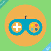 Game controller icon - vector illustration. — Stockvektor