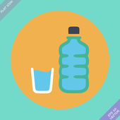 Set of water bottle and amp - vector illustration — Stock Vector