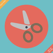 Scissors Icon - vector illustration. Flat — Vector de stock