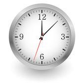 Realistic vector illustration of wall clock. — Stock Vector