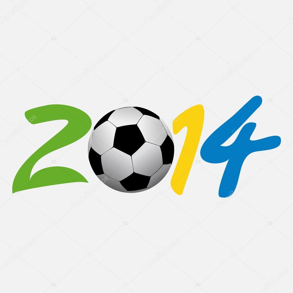 矢量插图足球 2014年.eps10 矢量图– 图库插图
