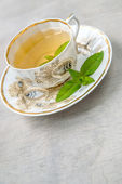 Cup of menth tea — Foto Stock