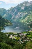 Geiranger fiyort, norveç — Stok fotoğraf