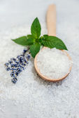 Spa, Scented Sea salt, Selective focus — Stock Photo