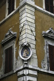 Building detail, Campo de Fiori, Rome, Italy — Stock Photo