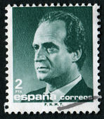 Stamp with Juan Carlos — Stock Photo