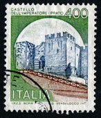 Stamp with castle — Foto Stock