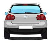 Vector Car - back view - Silver — Stock Vector