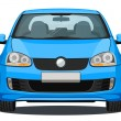 Car - Front view - Blue — Stock Photo #49016807