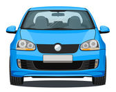 Car - Front view - Blue — Stock Photo