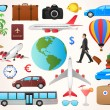 Set of travel icons - summer and vacation symbols — Stock Vector #51243905