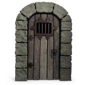 Illustration of castle door. — Stock Photo