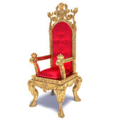 Illustration of red throne — Stock Photo