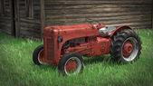 Old Rusty Tractor. — Stock Photo