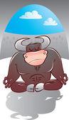 Yoga master — Stock Vector