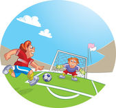 Piłkarz — Wektor stockowy