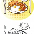 English Breakfast — Stock Vector