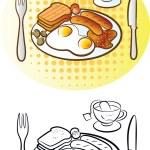 angielskie śniadanie — Wektor stockowy