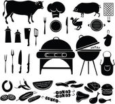 Barbeque Icon Set — Stock Vector