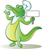 Cook croc — Stock Vector