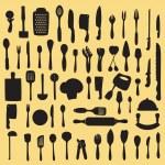 Cooking utensil set — Stock Vector #43641699