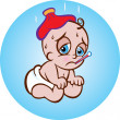 Sick Baby — Stock Vector #43645299
