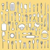 Kitchen utensil set — Stock Vector