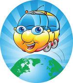 тур по всему миру — Cтоковый вектор