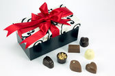 Gift and chocolates — Stockfoto