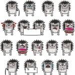 Постер, плакат: 18 smiley hedgehogs 3