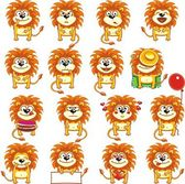 Smiley lions — Vector de stock