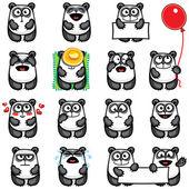 Smiley pandas — Stock Vector