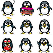 Smiley penguins — Stock Vector
