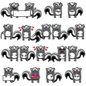 Smiley skunks — Stock Vector