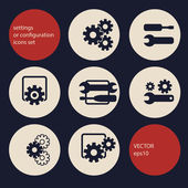 Settings icons set — Stock Vector