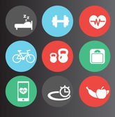 Fitness icons set 2 — Stock Vector