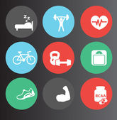 Fitness icons set 3 — Stock Vector