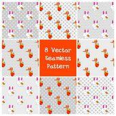 8 vector seamless pattern — Stock Vector