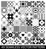 Seamless Patterns Background Collection.  Endless texture can be used for wallpaper, pattern fills, web page background,surface textures. Set of geometric ornaments. — Stock Vector