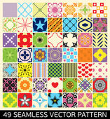 Основные RGBSeamless Patterns Background Collection.  Endless texture can be used for wallpaper, pattern fills, web page background,surface textures. Set of geometric ornaments. — Stock Vector